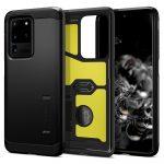 Spigen Tough  Armor Samsung Galaxy S20 Ultra hátlap, tok, matt fekete