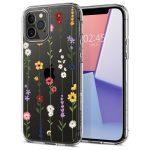 Spigen Cyrill Cecile Iphone 12 Pro Max mezei virágok mintás hátlap, tok, átlátszó
