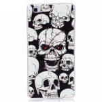 Glowing Case Skull iPhone 7 Plus/8 Plus szilikon hátlap, tok, mintás