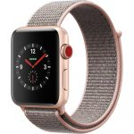 Apple Watch nylon 40mm óraszíj tépőzáras rögzítéssel, szürke-arany