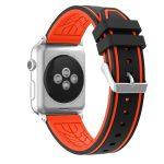 Apple Watch szilikon 40mm óraszíj, fekete-piros