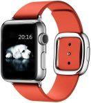Apple Watch bőr 40mm óraszíj, piros