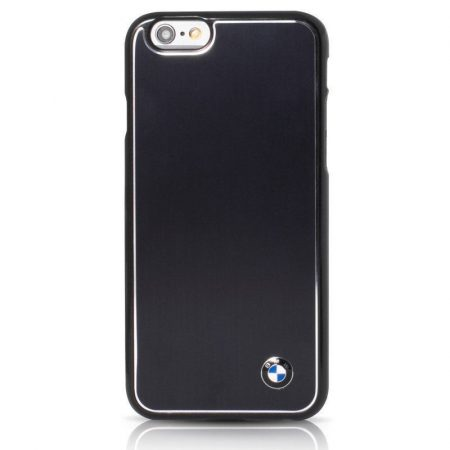 BMW iPhone 6 Plus/6S Plus Signature Brushed Aluminium hátlap, tok, fekete