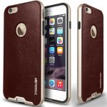 Caseology iPhone 6 (5.5'') Plus Bumper Frame Series bőr tok, bordó