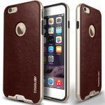 Caseology iPhone 6 (5.5'') Plus Bumper Frame Series bőr tok, bordó
