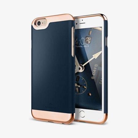 Caseology iPhone 6 Plus/6S Plus Savoy Series hátlap, tok, sötétkék