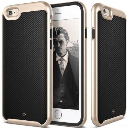 Caseology iPhone 6 Plus/6S Plus Envoy Series Carbon hátlap, tok, arany-fekete