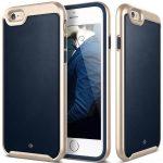 Caseology iPhone 6/6S (5.5'') Plus Envoy Series bőr hátlap, tok, sötétkék