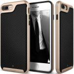 Caseology iPhone 7 (5.5'') Plus Envoy Series Carbon hátlap, tok, arany-fekete