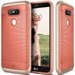 Caseology LG G5 Wavelength Series hátlap, tok, korallvörös