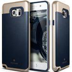 Caseology Samsung Galaxy Note 5 Envoy Series bőr hátlap, tok, sötétkék