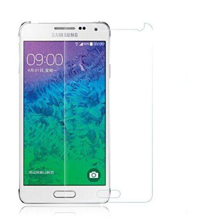 Iwill Samsung Galaxy Alpha kijelzővédő edzett üvegfólia (tempered glass) 9H keménységű, átlátszó