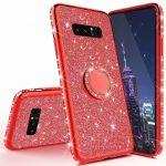 Diamond Ring Samsung Galaxy S8 hátlap, tok, piros