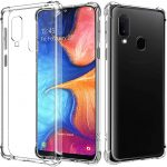 Glitter Case Samsung Galaxy A20s hátlap, tok, ezüst