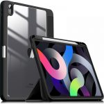 Infiland Crystal Case iPad Air 4 (2020) oldalra nyíló tok, fekete