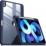 Infiland Crystal Case iPad Air 4 (2020) oldalra nyíló tok, sötétkék
