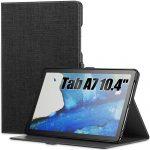 Infiland Classic Stand Samsung Galaxy Tab A7 10.4 T500/T505 (2020) oldalra nyíló tok, fekete