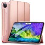 ESR Yippee iPad Pro 11 (2018/2020) oldalra nyíló okos tok, rozé arany
