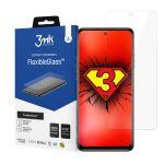 3MK Xiaomi Mi 10T Lite Flexible Glass kijelzővédő (nem teljes kijelzős) 2D sík üvegfólia, 7H keménységű, fekete