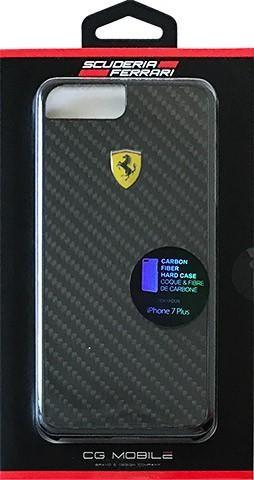 separation shoes 230d2 588d8 Ferrari iPhone 7 Plus REAL CARBON FIBER Hard back cover, case, black
