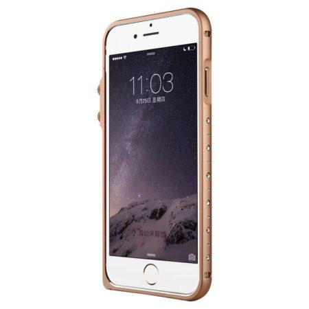 Baseus Eternal Series iPhone 6 alumínium bumper, rozé arany