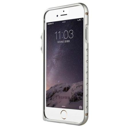 Baseus Eternal Series iPhone 6Plus/6S Plus alumínium bumper, ezüst