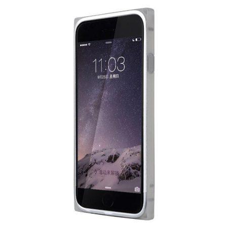 Baseus Rigid Soft Frame iPhone 6 keret, tok, ezüst-fehér