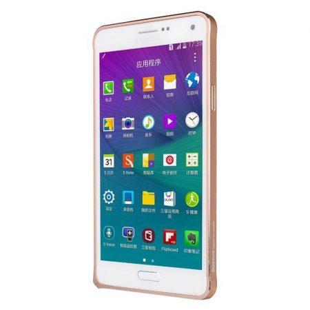 Baseus Beauty Arc Samsung Galaxy Note 4 alumínium bumper, rozé arany
