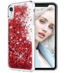 Liquid Glitter Samsung Galaxy S8 Hülle, Schutzhülle, Rot