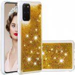 Liquid Glitter Samsung Galaxy A6 2018 hátlap, tok, arany