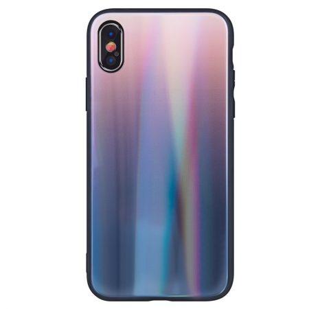 Aurora Glass Samsung Galaxy S10e hátlap, tok, barna-fekete