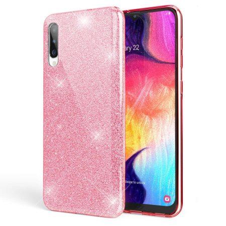 Glitter 3in1 Case Huawei P Smart Z hátlap, tok, rózsaszín