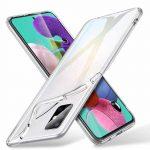 Samsung Galaxy A71 Slim 1mm szilikon hátlap, tok, átlátszó