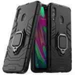 Armor Ring Case Samsung Galaxy A21s ütésálló hátlap, tok, fekete