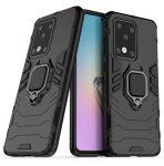 Armor Ring Case Samsung Galaxy A41 ütésálló hátlap, tok, fekete