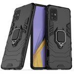 Armor Ring Case Samsung Galaxy A51 ütésálló hátlap, tok, fekete