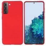 Silicone Case Samsung Galaxy S21 szilikon hátlap, tok, piros