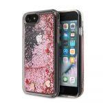 Guess iPhone 7/8/SE (2020) Glitter Floating Hearts, hátlap, tok, rózsaszín