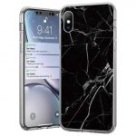Wozinsky Marble case Samsung Galaxy A31 márvány mintás hátlap, tok, fekete