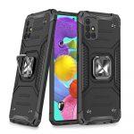 Wozinsky Armor Ring Samsung Galaxy A51 5G ütésálló hátlap, tok, fekete