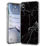 Wozinsky Marble case iPhone 11 márvány mintás hátlap, tok, fekete
