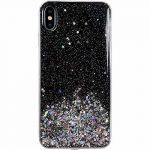 Wozinsky Star Glitter Shining Samsung Galaxy A40 hátlap, tok, fekete