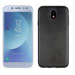 Carbon Fiber Samsung J5 (2017) hátlap, tok, fekete