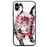 Glass Hearts Dog Samsung Galaxy S10 Plus mintás, hátlap, tok, fehér