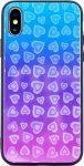 Glass Hearts Samsung Galaxy S9 Plus mintás, hátlap, tok, kék-rózsaszín