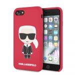 Karl Lagerfeld iPhone 7/8 Silicone Karl Iconic Full Body hátlap, tok, piros