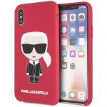 Karl Lagerfeld iPhone X/Xs Silicone Karl Iconic Full Body hátlap, tok, piros