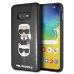 Karl Lagerfeld Samsung Galaxy S10e Karl and Choupette hátlap, tok, fekete