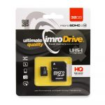 Imro memóriakártya micro SDHC, 32GB, class 10, UHS-I, adapterrel