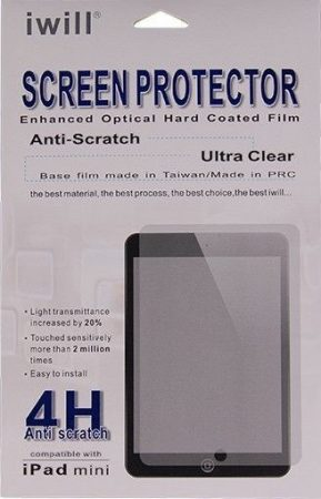Iwill iPad Mini 1/2/3/4 karcálló 4 rétegű kijelzővédő fólia, átlátszó